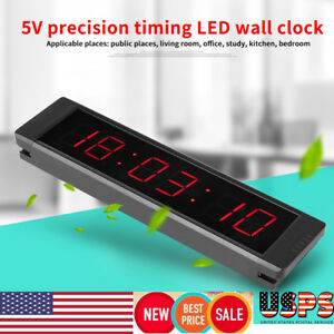 Programmable Remote Led Interval Metal Timer Wall Clock For Fitness Training Us