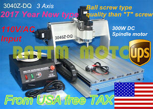 Us Ship Desktop 3 Axis Cnc Router Engrver Engraving Milling 3040z Machine 110v