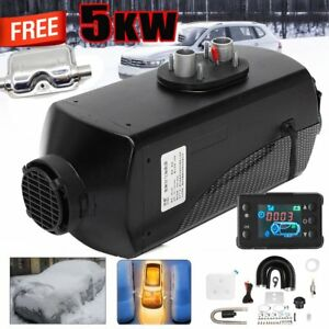 Us Stock 12v Lcd Air Diesel Fuel Heater 5kw F Boat Bus Car Accessories Rm