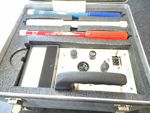 Narda Microline 8100 Electromagnetic Radiation Meter surveyor W 3 Probes Nice
