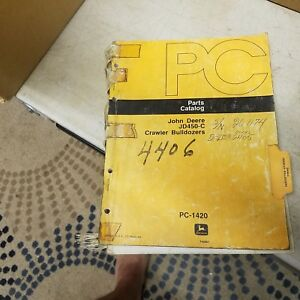 John Deere Jd450c 450 C Crawler Bulldozer Dozer Parts Catalog Manual Pc 1420