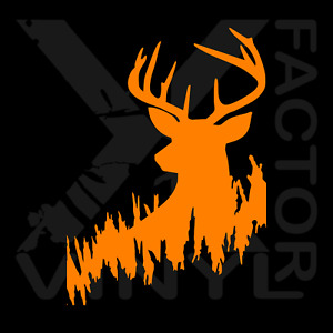 Whitetail Deer Bow Rifle Hunting Hunter Buck Vinyl Dicut Decal 14 Color 3 Sizes