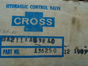Cross Hydraulic Control Valve P n 136250 Made In The Usa Sba22