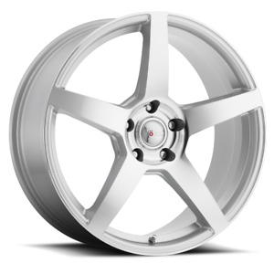 1 New 18x8 40 Voxx Mga Silver Machined Face Wheel Rim 5x115