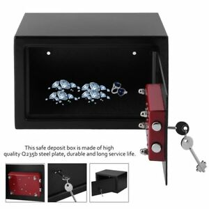 8 5l Steel Key Security Money Cash Hidden Wall floor Safe Box 7 Lever Key Lock
