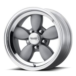 4 New 17x7 0 American Racing Vn504 Mag Gray W Mirror Lip 5x127 Wheels Rims