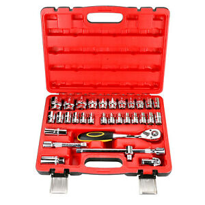 32 Pcs Socket Spanner Repair Drive Handle Extension Bar Wrench Tool Kit 1 2 inch