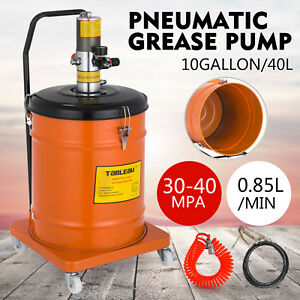 10 Gallon Grease Pump Air Pneumatic 40l High Pressure Compressed Grease Hose