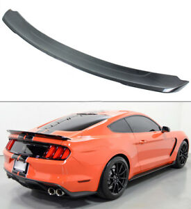 For 2015 17 Ford Mustang Gt350 Track Pack Style Carbon Fiber Trunk Spoiler Wing