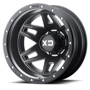 2 New 95 17x6 5 Kmc Xd130 Machete Dually Satin Black 8x210 Rear Wheels Rims