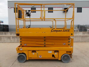 Haulotte 3347e Electric Scissor Lift 39 Working Height Deck Extension Genie