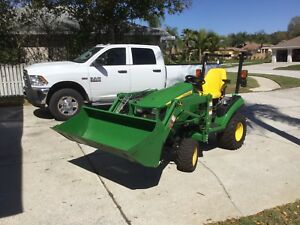 2015 John Deere 1025r 4x4 Diesel Drive Over Mower Nice Low Hours
