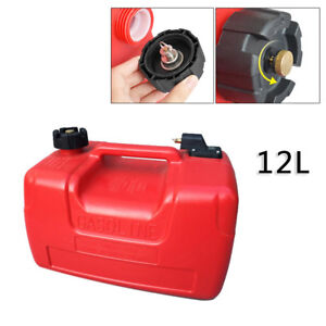 12l 3 2gallon For Yamaha Outboard Portable Durable Fuel Tank W Connector Plastic
