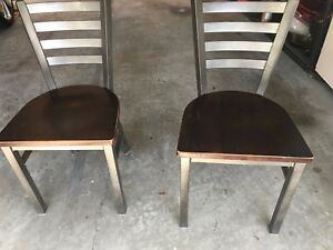 Lima Metal Chair With Wood Seats