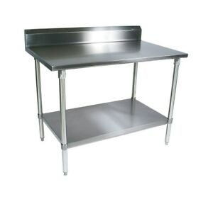 Commercial Stainless Steel Work Table 24 X 24 With 4 Backsplash Nsf