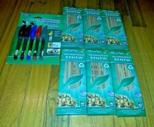 65 School Supplies Dixon Ticonderoga natural Wood 2 Pencil Permanent Markers