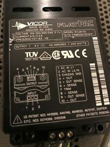 Vicor Vi lu0 cu Flatpac 200w Power Supply 5v 40a Used Tested Ships Free