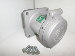 Appleton Adr6034 60 amp Pin sleeve Receptacle 60a 600v 3w 4p Same As Ar642