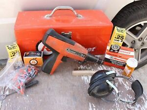 Ramset D60 Nail Gun Fastening Tool Bundle With Metal Case Extras
