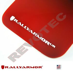 Rally Armor Mud Flaps For 2015 2018 Vw Mkvii Golf R Red W White Logo
