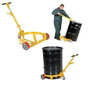 Industrial Hand Truck Dolly Wheel Cart Caddies Drum Barrel Caddy Trolley Tool