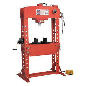 Sealey Air Hydraulic Floor Type Press 75 Tonne With Foot Pedal Yk759fah