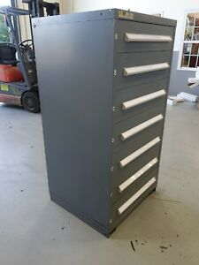 Vidmar Model 0340 Industrial Drawer Cabinet Grey 7 Drawers 4