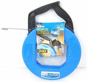 Ideal USA Made 31-057 Pro Blued Steel HVACElectrician Fish Tape 240'