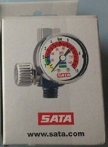 Sata 27771 Hvlp Air Micrometer W gauge 0 145 Psi Spray Gun Regulator