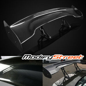 57 Universal Jdm Style 100 Real Carbon Fiber Rear Trunk 3d Gt Spoiler Wing