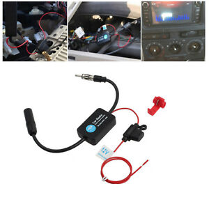 12v Auto Car Stereo Fm Am Strengthen Antenna Radio Signal Amplifier Booster 25db