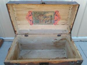 Late 1800 S Very Rare Dome Top Steamer Trunk