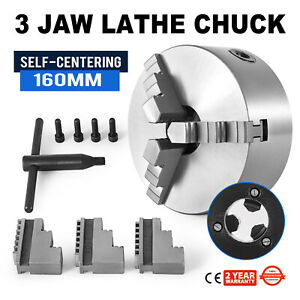 Lathe Chuck 3 Jaw X 6 6 Inch Scroll Metal Self centering Plain Back K11 160