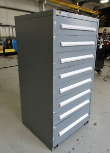 Vidmar Model 0340 Industrial Drawer Cabinet Grey 7 Drawers 5