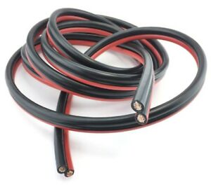 Battery Booster Jumper Cable Twin Wires Flexible Pure Copper 4 Gauge Awg Size