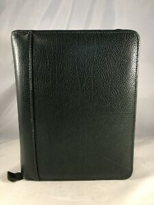 Compact 1 5 Green Top Grain Leather Franklin Covey Quest Planner Binder Usa