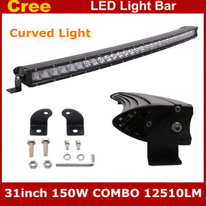 Curved 31 inch Single Row 150w 3d Offroad Cree Led Light Bar Car Atv Jeep 30 32