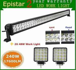 42inch 240w Led Light Bar Combo Off road Suv Ford Lamp 48w Work Lamp Rzr 4wd Atv