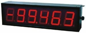 Baumer D060s 46s4a01 6 Digit 7 segment Led Display Red 1000 Lx 57mm