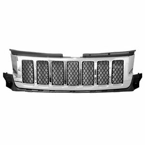 Fits 2011 2013 Jeep Grand Cherokee Overland Front Bumper Grille Upper New