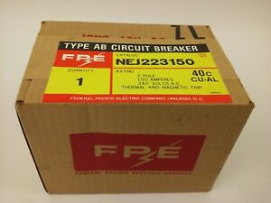 Federal Pacific Nej223150 2p 150a 240v type Ab Circuit Breaker New