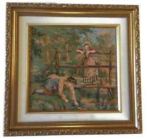 Antique French Tapestry Made In France Frame Not Included