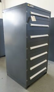 Vidmar Model 0340 Industrial Drawer Cabinet Grey 7 Drawers 8