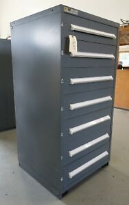 Vidmar Model 0340 Industrial Drawer Cabinet Grey 7 Drawers 9
