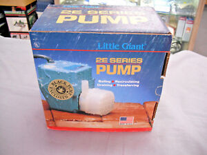 Little Giant 2e 38n Pump 5 1 2 In L 3 1 2 In W 4 3 4 In H New In Box