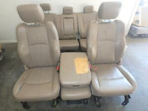 Dodge 1500 2500 3500 Front Rear Seat Set Tan Leather Power 10 11 12 13 14 15