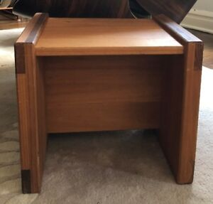 Vintage Low Profile Wood Bedside Tables Side Table Coffee Table Modular Flatpack
