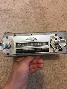 Chevy Olds Impala Caprice Am Radio Stereo Rare As Is Not Tested Restoration