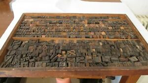 Vintage Wood Letterpress Letters Numbers Print Block Over 540 Print Blocks Rare