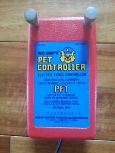 Red Snap r Pet Controller Pf1 Electric Fence Controller 1 Mile Cont 110v